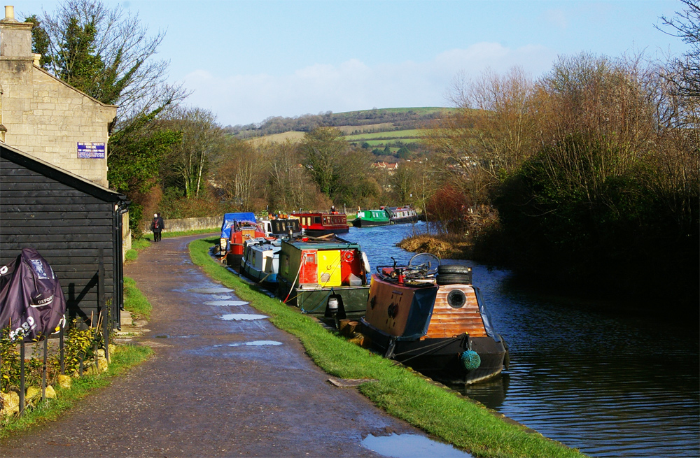 The Kennet and Avon Canal that goes from Bath to Bradford on Avon