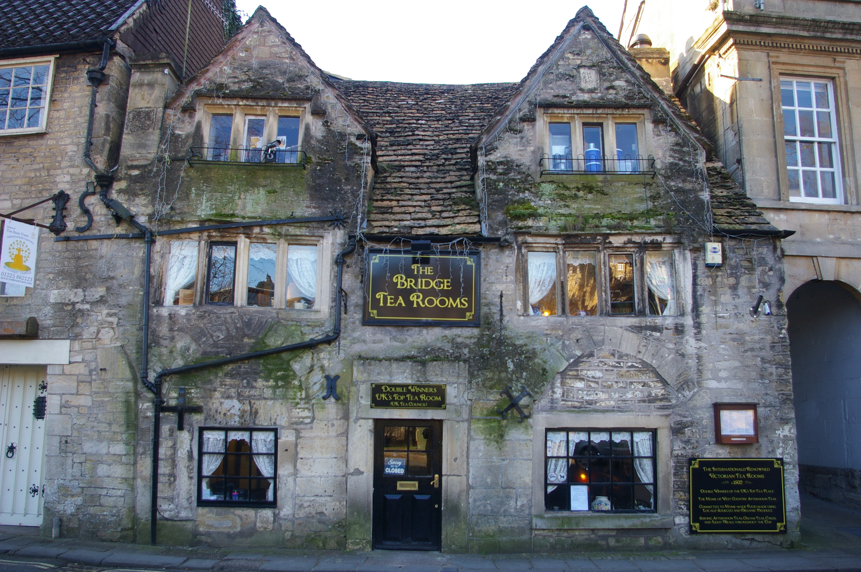 Exterior of the Bridge Tea Rooms in Bradford on Avon