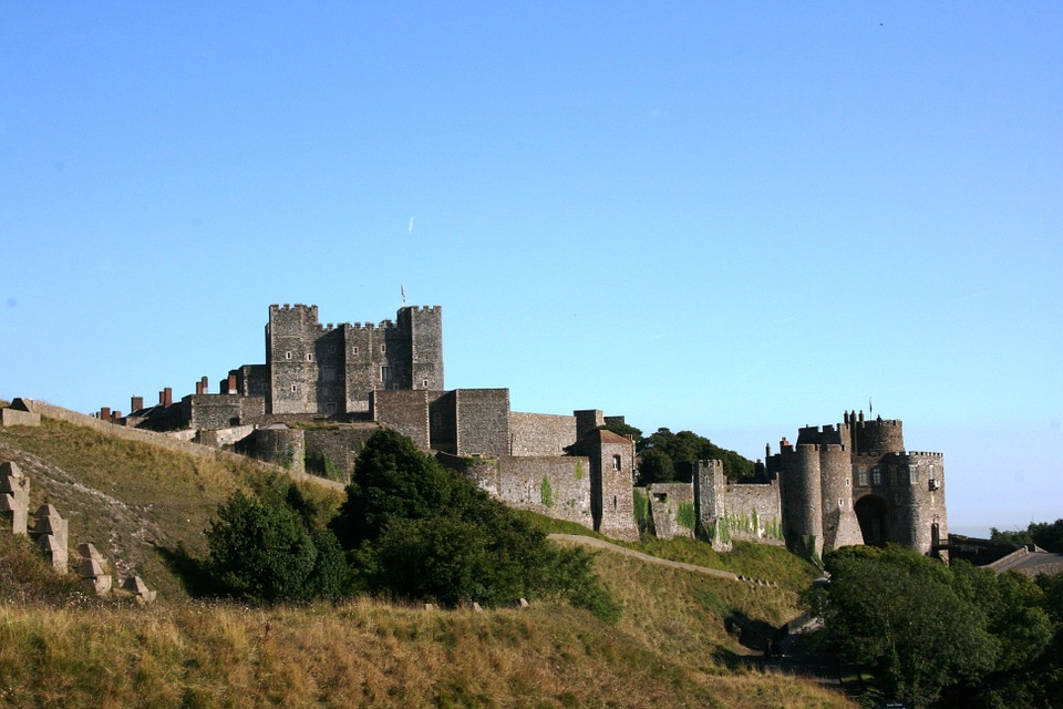 Dover Castle near London, England